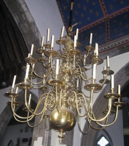 Chandelier at St James, Egerton, Kent