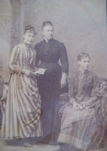 Louise Fornallaz, Louise's aunt Tem and Isaline Jomini c. 1895