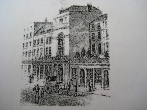 Engraving of Thatched House Tavern, St James'.