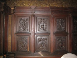 Original panelling in the Bishops Room